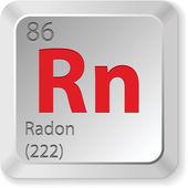 Radon element — Stock Vector