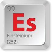 Einsteinium element — Stock Vector