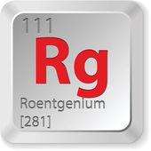 Roentgenium element — Stock Vector