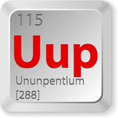 Chimic element ununpentium — Stock Vector