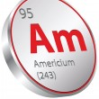 Stock Vector: Americium element