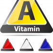 Stock Vector: Vitamin a