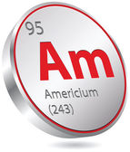Americium element — Stock Vector