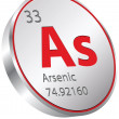 Arsenic element — Stock Vector