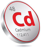 Cadmium element — Stock Vector