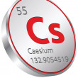 Caesium element — Stock Vector