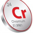 Stock Vector: Chromium element