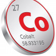 Cobalt element — Stock Vector
