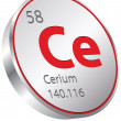 Cerium element — Stock Vector