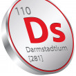 Darmstadtium element - Stock Vector
