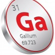 Gallium element — Stock Vector