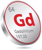 Gadolinium element — Stock Vector
