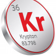 Krypton element — Stock Vector