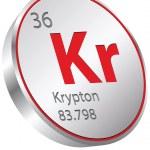 Krypton element — Stock Vector