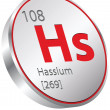 Hassium element — Stock Vector #26973597