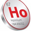 Holmium element — Stock Vector