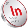 Indium element — Stock Vector