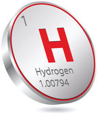 Hydrogen element — Stock Vector
