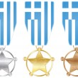 Stock Vector: Medals - greece