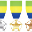 Stock Vector: Gabon medals