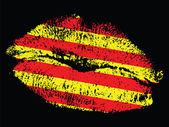 Catalonian kiss — Stock Vector
