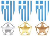 Medals - greece — Stock Vector
