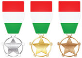 Hungary medals — Stock Vector