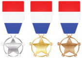 Netherlands medals — Stock Vector