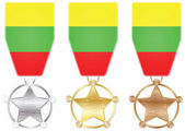 Lithuania medals — Stock Vector