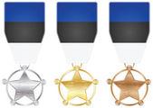 Médailles de l'estonie — Vecteur
