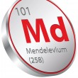 Mendelevium element — Stock Vector