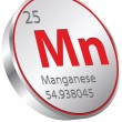 Manganese element — Stock Vector #27610355