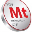 Meitnerium element — Stock Vector