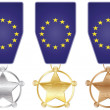 Stock Vector: EU medals