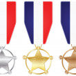 Stock Vector: France medals