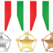 Italy medals — Stock Vector