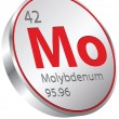 Stockvector : Molybdenum element