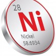 Stockvector : Nickel element