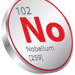 Nobelium element — Stock Vector #28403811