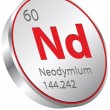 Stockvector : Neodymium element