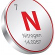 Nitrogen element — Stock Vector