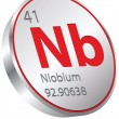 Niobium element — Stock Vector