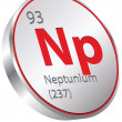 Neptunium element — Stock Vector #28404199
