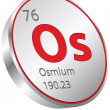 Stock Vector: Osmium element