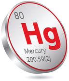 Mercury element — Stock Vector
