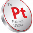 Stock Vector: Platinum element