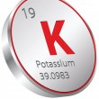 Vector de stock : Potassium element