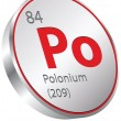 Stock Vector: Polonium element