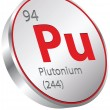 Vector de stock : Plutonium element
