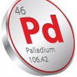 Palladium element — Stock Vector